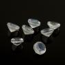Ограненный лунный камень беломорит круг, диаметр 4 мм (moon0094)