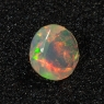 Эфиопский опал круг средний вес 0.48 карат, размер 6х6мм (opal0154)