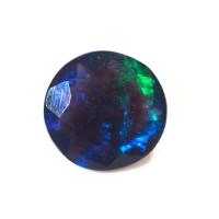 Чёрный эфиопский опал круг вес 0.85 карат, размер 7.8х7.5мм (opal0175)