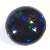 Чёрный эфиопский опал круг вес 5.64 карат, размер 13х12.8мм (opal0204)