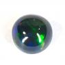Чёрный эфиопский опал круг вес 2.68 карат, размер 9.3х9.3мм (opal0252)