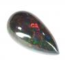 Чёрный эфиопский опал груша вес 6.99 карат, размер 19.9х10.5мм (opal0253)