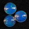 Комплект эфиопских опалов формы круг, общий вес 3.6 карат, размер 8х8мм (opal0269)