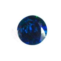 Чёрный эфиопский опал круг вес 1.04 карат, размер 8х8мм (opal0297)