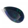 Чёрный эфиопский опал груша вес 1.88 карат, размер 4.3х8.2мм (opal0305)
