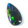 Чёрный эфиопский опал груша вес 3.76 карат, размер 19х10.1мм (opal0352)