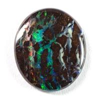 Австралийский болдер-опал овал вес 4.05 карат, размер 14х12.1мм (opal0377)