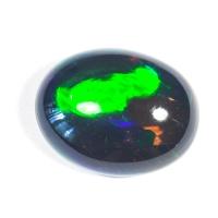 Черный эфиопский опал овал вес 4 карат, размер 13.2х10.4мм (opal0433)