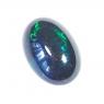 Черный эфиопский опал овал вес 2.37 карат, размер 12.7х8.8мм (opal0437)