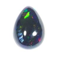 Черный эфиопский опал груша вес 2.76 карат, размер 13.6х9.6мм (opal0439)