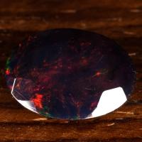 Черный эфиопский опал овал вес 3 карат, размер 13.7х9.9мм (opal0511)