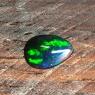 Черный эфиопский опал груша вес 0.88 карат, размер 9.2х6.2мм (opal0516)