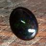 Черный эфиопский опал овал вес 3.21 карат, размер 13х10.2мм (opal0518)