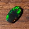 Черный эфиопский опал овал вес 2.12 карат, размер 13.6х7.3мм (opal0686)