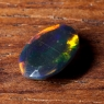 Черный эфиопский опал овал вес 1.2 карат, размер 9.6х7.1мм (opal0702)