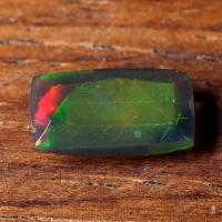 Черный эфиопский опал антик вес 1.25 карат, размер 10.6х6мм (opal0707)