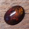 Черный эфиопский опал овал вес 4.21 карат, размер 14.1х10.1мм (opal0719)