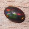Черный эфиопский опал овал вес 4.04 карат, размер 13.6х9мм (opal0721)