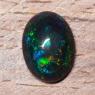 Черный эфиопский опал овал вес 3.29 карат, размер 13.6х10.2мм (opal0722)