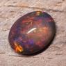 Черный эфиопский опал овал вес 4.84 карат, размер 13.8х10.5мм (opal0723)