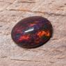 Черный эфиопский опал овал вес 2.76 карат, размер 11.6х8.4мм (opal0726)