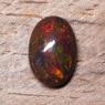 Черный эфиопский опал овал вес 2.93 карат, размер 12.2х8.5мм (opal0727)