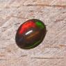 Черный эфиопский опал овал вес 0.87 карат, размер 8.9х6.8мм (opal0729)