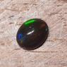 Черный эфиопский опал овал вес 1.19 карат, размер 9х7.1мм (opal0730)