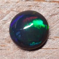 Черный эфиопский опал круг вес 3.9 карат, размер 11.3х11.3мм (opal0732)