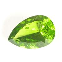 Хризолит (перидот) груша вес 25.72 карат, размер 24.7х16.7мм (perydot0063)