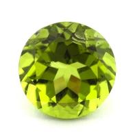 Хризолит (перидот) формы круг, вес 7.98 карат, размер 12х12мм (perydot0117)