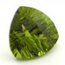 Хризолит (перидот) формы триллион, вес 12.14 карат, размер 14.5х14.5мм (perydot0118)