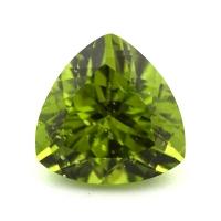 Хризолит (перидот) формы триллион, вес 6.53 карат, размер 12.1х12.1мм (perydot0122)