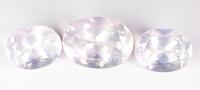 Розовый кварц комплект овалов общим весом 77.44 карат, размеры 25.5х18.7 и 20.5х15.5мм (pquartz0057)