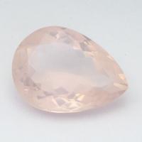 Розовый кварц груша средний вес 9.62 карат, размер 18х13мм (pquartz0071)