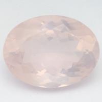Розовый кварц овал средний вес 16.7 карат, размер 20х15мм (pquartz0074)
