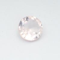 Розовый кварц круг средний вес 1.61 карат, размер 8х8мм (pquartz0076)