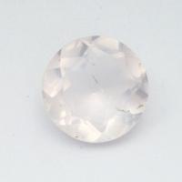 Розовый кварц круг средний вес 3.11 карат, размер 10х10мм (pquartz0077)