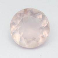 Розовый кварц круг средний вес 5.83 карат, размер 12х12мм (pquartz0078)