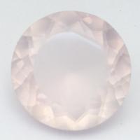 Розовый кварц круг средний вес 18 карат, размер 18х18мм (pquartz0079)