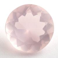 Розовый кварц круг, вес 12.92 карат, размер 17.9х17.9мм (pquartz0084)