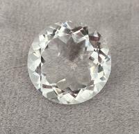 Горный хрусталь круг средний вес 12.1 карат, размер 16мм (quartz0018)