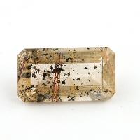 Кварц с включениями октагон вес 23.3 карат, размер 24.7х13.6мм (quartzinc0020)