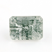 Кварц с включениями октагон вес 39.7 карат, размер 24х17.2мм (quartzinc0021)