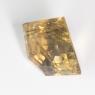 Бледно-коричневый кварц с включениями пятиугольник вес 21.79 карат, размер 16.8х16.5мм (quartzinc0037)