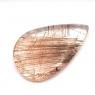 Кварц с включениями кабошон груша вес 43.86 карат, размер 36.36х22.7мм (quartzinc0045)