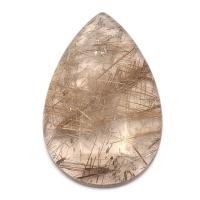 Кварц с включениями кабошон груша вес 42.94 карат, размер 38.2х24.8мм (quartzinc0046)