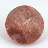Земляничный кварц круг вес 2.75 карат, размер 9.75х9.65мм (quartzinc0052)