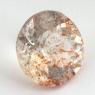 Земляничный кварц круг вес 3.99 карат, размер 11х10.9мм (quartzinc0057)