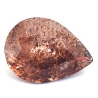 Земляничный кварц груша вес 5.17 карат, размер 14.1х10.5мм (quartzinc0058)